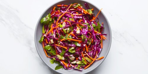 Red Cabbage Slaw With Cilantro and Citrus