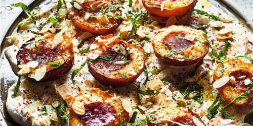 Roasted Nectarines With Labneh, Herbs, and Honey
