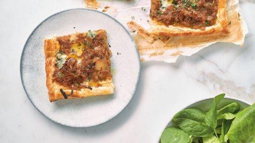 Nadiya Hussain's French Onion and Blue Cheese Tart