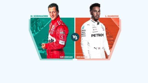 Michael Schumacher o Lewis Hamilton: ¿con cuál te quedas?