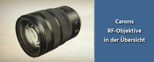 Canon RF Objektive – die große Übersicht