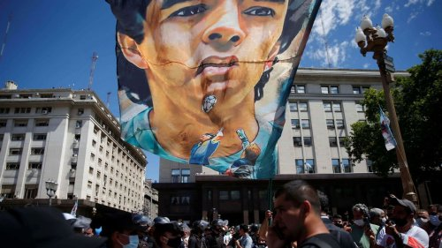 Maradona's daughter urges fans to join 'Justice for Diego' march