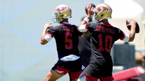 49ers' Trey Lance-Jimmy Garoppolo QB battle just starting to heat up