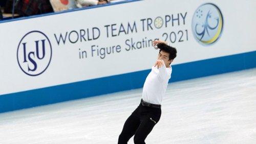 Nathan Chen edges Yuzuru Hanyu in short program at the figure skating World Team Trophy