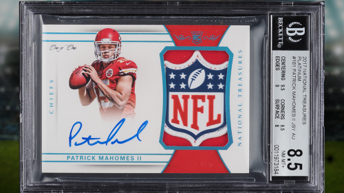 Patrick Mahomes autographed card sells for $4.3 million, most ever for a football card