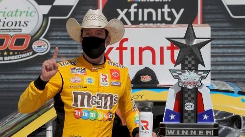 Kyle Busch disqualified after taking checkered flag at Texas in Xfinity Series race