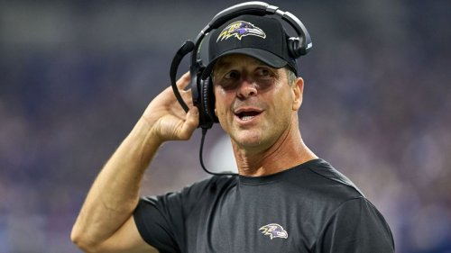 Ravens coach John Harbaugh pays the bill for entire seafood restaurant during a Baltimore charity event