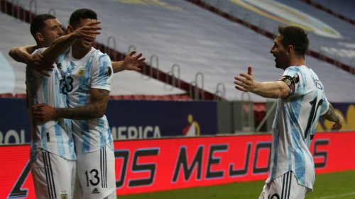 Copa America: Messi sets up Argentina's first win as Brazil keep racking up the goals