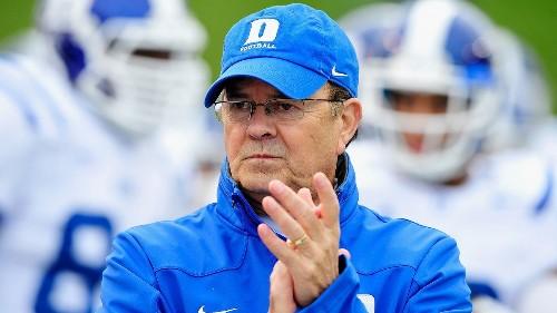 Duke Blue Devils football coach David Cutcliffe gives up playcalling duties, realigns staff