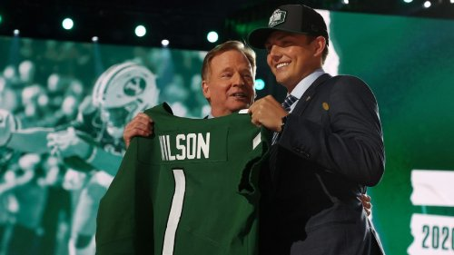 Carolina in his mind? New York Jets rookie Zach Wilson catches a tough break