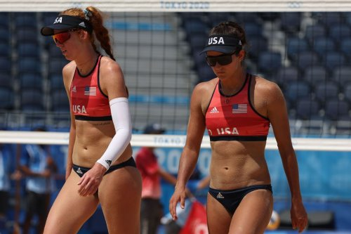 Americans Nick Lucena, Phil Dalhausser and Sarah Sponcil, Kelly Claes ousted in beach volleyball at Olympics