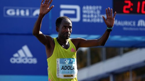 Guye Adola wins Berlin Marathon in 2:05:45; Kenenisa Bekele finishes third