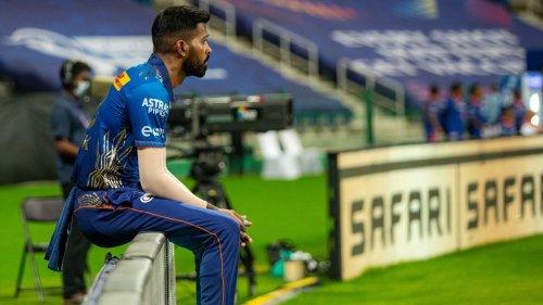 Hardik Pandya has a bowl at India's nets session
