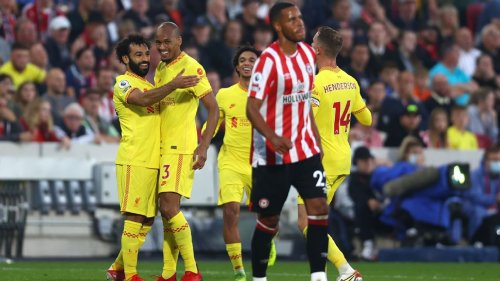 Liverpool pegged back late by Brentford in six-goal thriller