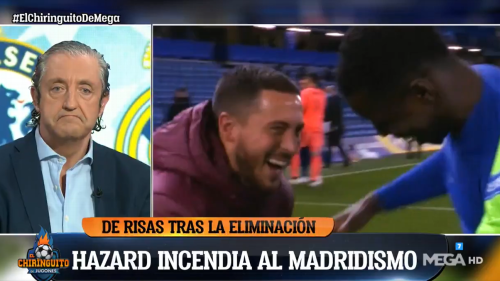 Hazard slammed by emotional TV host for laughing with Chelsea players: 'He can't continue at Real Madrid for one second more'