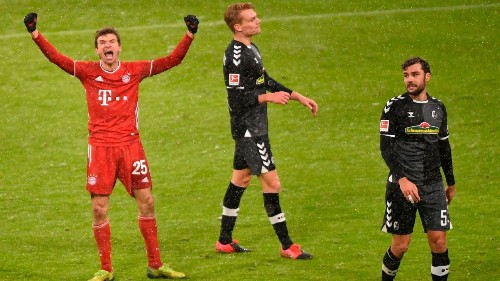 Bayern go four points clear with scrappy win over Freiburg