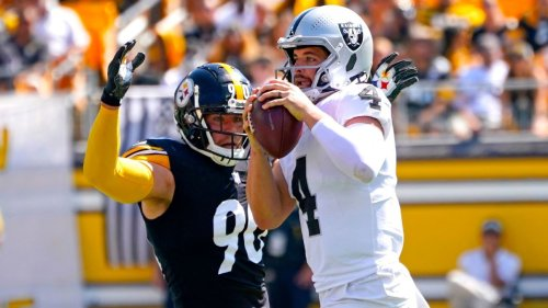 Pittsburgh Steelers' T.J. Watt exits with groin injury; Trai Turner ejected after spitting toward Raiders player in loss