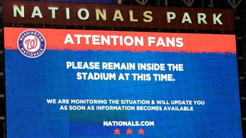 Shooting reported outside Nats' park; game ppd.