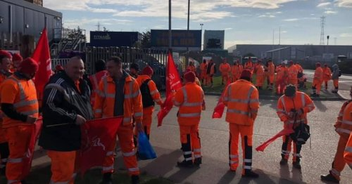 Waste workers begin 3 week strike with bin collections disrupted