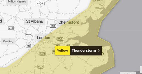 More flooding 'possible' in Essex as yellow thunderstorm warning issued