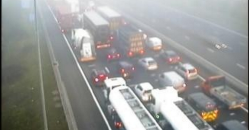 Live: Six miles of queues after lorry breaks down on M25