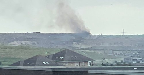 70 firefighters tackle landfill fire with smoke seen for miles