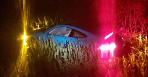 Porsche found submerged in Essex pond after double crash