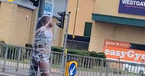 Essex man seen tied to lamppost wearing only his socks and sandals