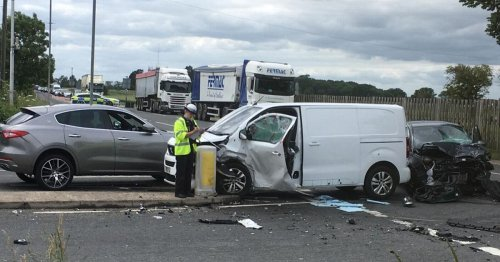 Man seriously injured after being cut from car in crash