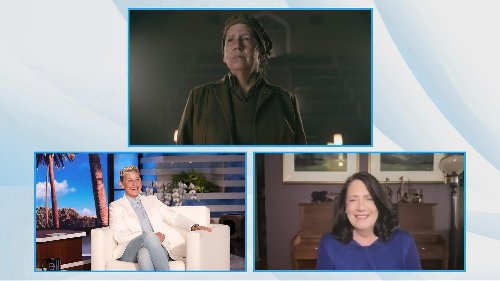Ann Dowd Tells Ellen About The Time A 'Handmaid's Tale' Fan Literally Ran Away From Her Scared