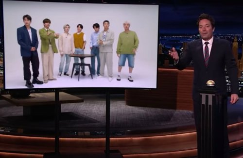 Jimmy Fallon Challenges BTS To Play 'Will It Fit?'