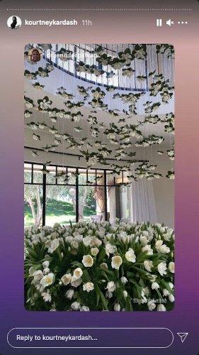 Travis Barker Celebrates Kourtney Kardashian's Birthday With Over-The-Top Flower Arrangement