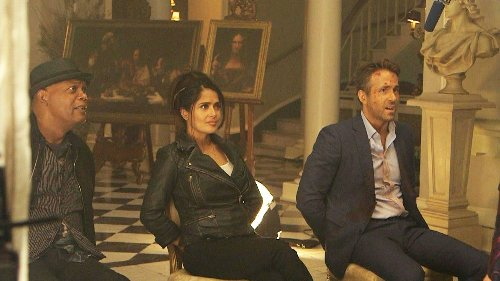 On Set of 'The Hitman's Wife's Bodyguard' With Salma Hayek