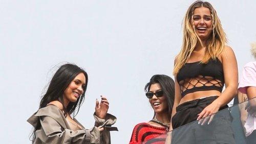 Kourtney Kardashian, Megan Fox Hang Out at Travis Barker & MGK Show