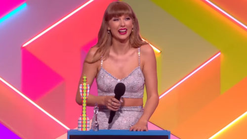 Taylor Swift Thanks Joe Alwyn During BRIT Awards Global Icon Speech