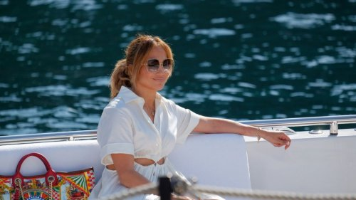 Jennifer Lopez Brings Back 'BEN' Necklace While Out Solo in Portofino