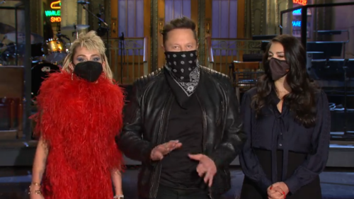 Elon Musk Jokes He's a 'Wild Card' In 'SNL' Promo With Miley Cyrus