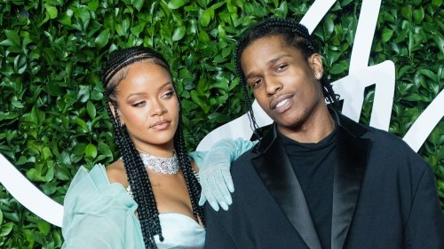 Rihanna and A$AP Rocky Share PDA During Night Out in Miami