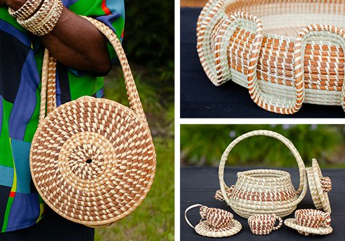 Beautiful Baskets of Heritage, Made by the Gullah Weavers