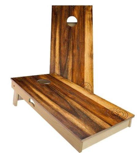 Save 30% on an oak cornhole set