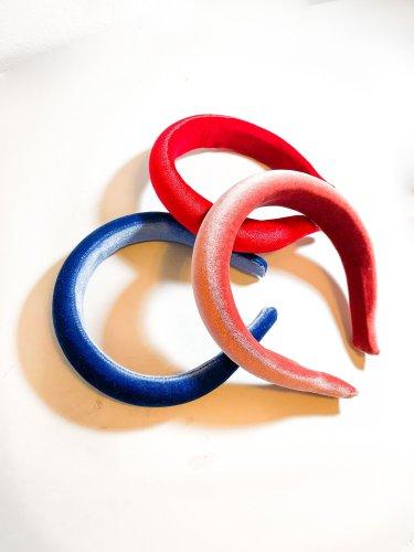 Large velvet padded headband