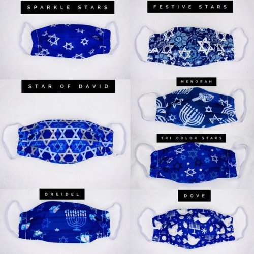 Enjoy Hanukkah with these face masks