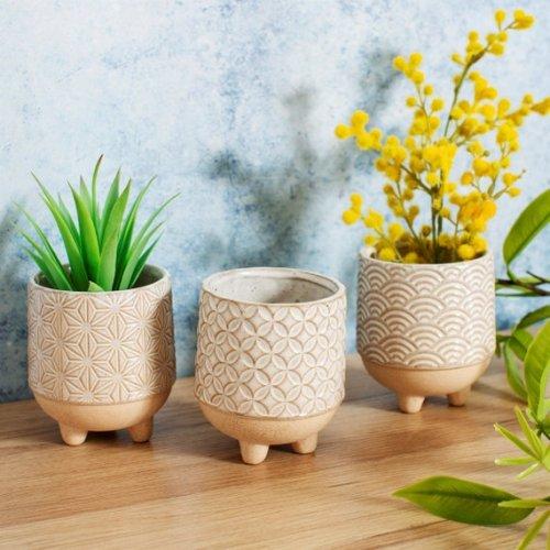 3 Japandi Mini Planters Plant Pots Flower Pot Planter