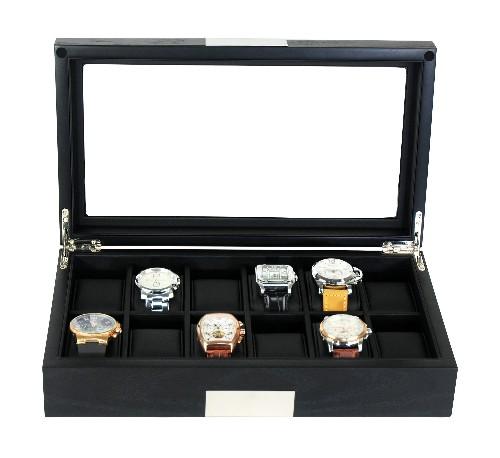 12-piece wood watch box