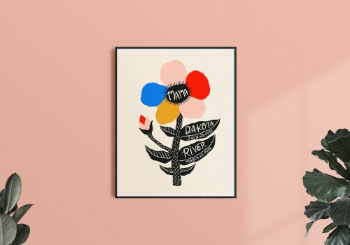 Custom colorful art print