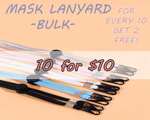 Stylish face mask lanyards