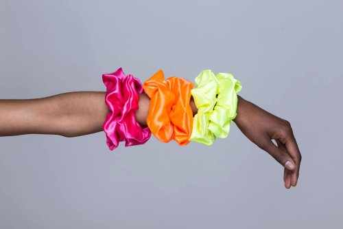 Neon 90's style scrunchies