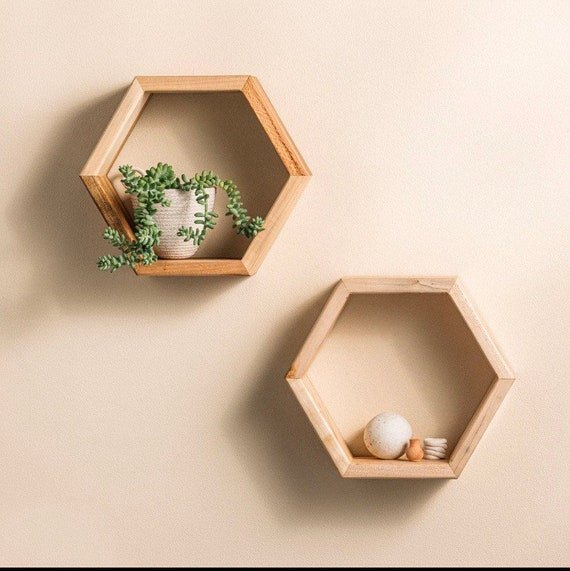 Save $13 on hexagon floating shelves