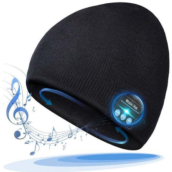Bluetooth beanie with built-in headphones