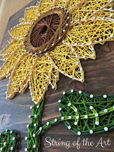 Sunflower String Art Kit Crafts For Adults Craft Kits | Etsy